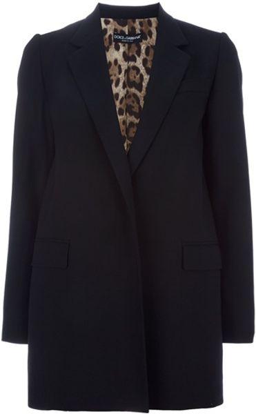 Dolce & Gabbana Oversize Blazer in Black