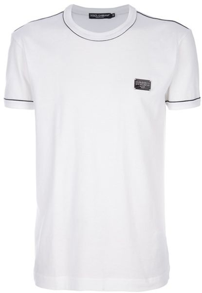 Dolce & Gabbana Classic Polo in White for Men - Lyst