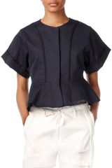 Edun Short Sleeve Peplum Jacket - Lyst