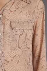 Equipment Signature Python Blouse in Beige (nude) - Lyst