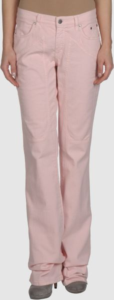 Jeckerson Denim Trousers in Pink - Lyst