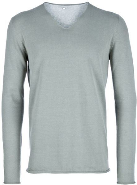 Label Under Construction Vneck Sweater in Gray for Men (grey) - Lyst