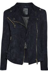 Lot78 Zoe Suede Biker Jacket - Lyst