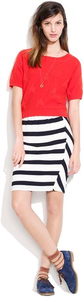 Madewell Picket Stripe Skirt - Lyst