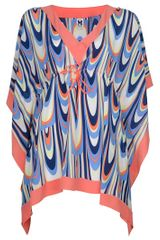 Missoni Print Top in Multicolor (orange) - Lyst
