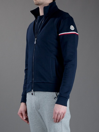 Moncler Zipup Track Top in Blue for Men - Lyst 7340476e5