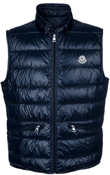 Moncler Padded Gilet in Blue for Men (navy) - Lyst