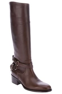 Ralph Lauren Knee High Biker Boot - Lyst