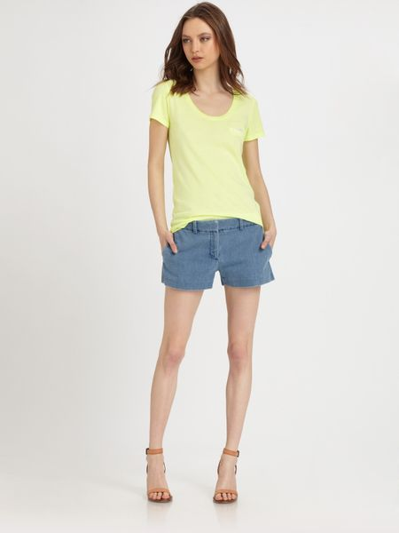 Theory Denim Shorts in Blue (indigo) - Lyst