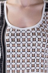 Vionnet Printed Tank Top in White - Lyst