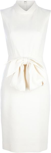 Yves Saint Laurent Belted Bow Dress - Lyst