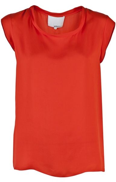 3.1 Phillip Lim Muscle Tshirt in Red (poppy) - Lyst
