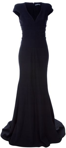 Alexander McQueen Pleated Long Dress - Lyst