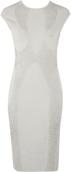 Alexander McQueen Textured Stretch Knit Dress - Lyst