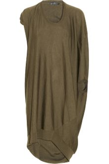 Alexander McQueen Draped Wool and Silk Blend Jersey Dress - Lyst