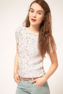 Asos Premium Sequin Shell Top - Lyst