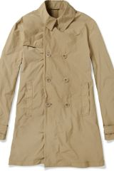 Aspesi Larry Lightweight Doublebreasted Rain Coat in Brown for Men - Lyst