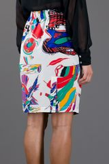 Aspesi Print Skirt in Multicolor (multicolour) - Lyst