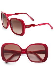 Balenciaga Square Twisted Temple Sunglasses - Lyst