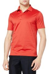 Balenciaga Reversible Slimfit Cotton Polo Shirt in Red for Men - Lyst