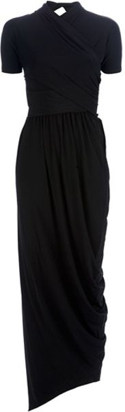 Carven Maxi Dress in Black - Lyst