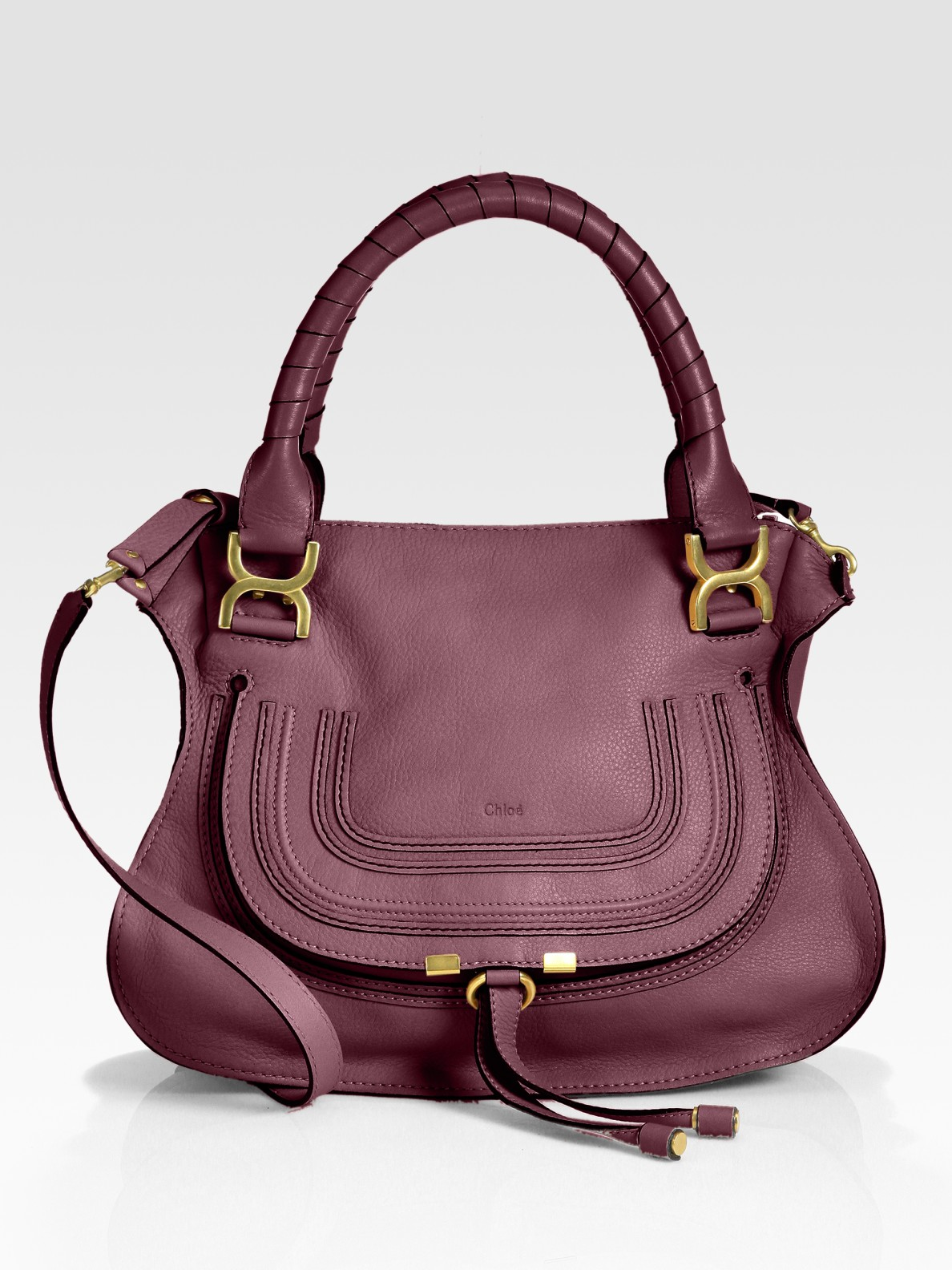 chlo marcie small satchel bag in red redgrape lyst. Black Bedroom Furniture Sets. Home Design Ideas