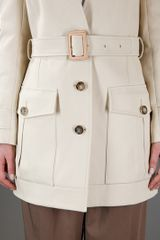 Chloé Sand Cotton Coat in Beige (sand) - Lyst