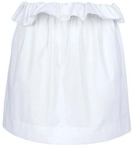 Chloé Full Skirt in White - Lyst