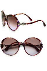 David Yurman Cable Accented Round Plastic Sunglasses