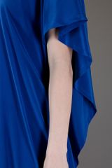 Dkny Oversize Silk Dress in Blue - Lyst
