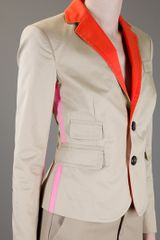 Dsquared2 Contrast Collar Jacket in Beige (nude) - Lyst