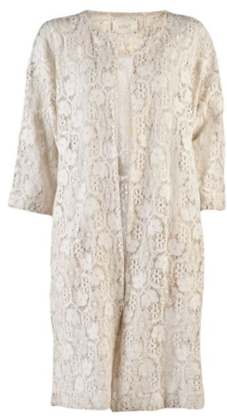Giada Forte Lace Coat in Beige (ivory)