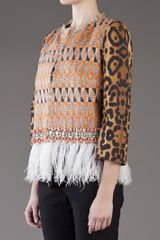 Giambattista Valli Embellished Jacket in Animal (leopard) - Lyst