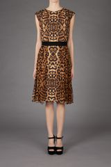 Giambattista Valli Leopard Print Dress in Brown (leopard) - Lyst