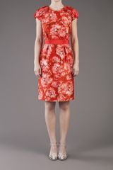 Giambattista Valli Printed Dress in Multicolor (red) - Lyst
