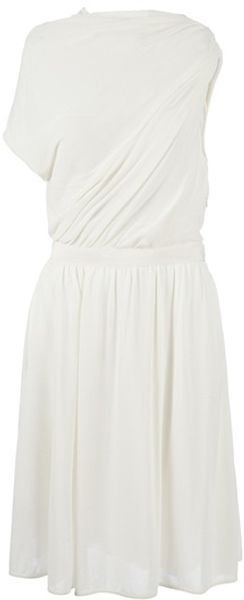 Giambattista Valli Draped Onesleeved Dress - Lyst