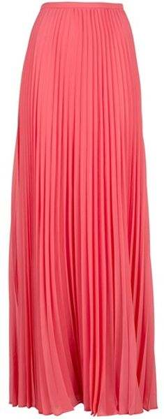 Halston Heritage Pleated Maxi Skirt - Lyst