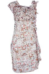 High Printed Dress - Lyst