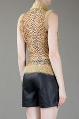 Jean Paul Gaultier Sleeveless Polo Neck in Brown - Lyst