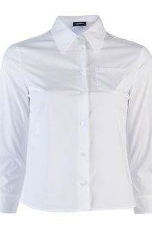 Jil Sander Cropped Oxford Shirt - Lyst