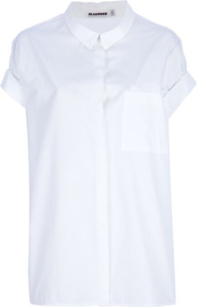 Jil Sander Lorena Shirt in White - Lyst