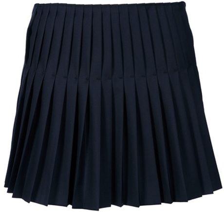 joseph pleated skirt in blue navy lyst