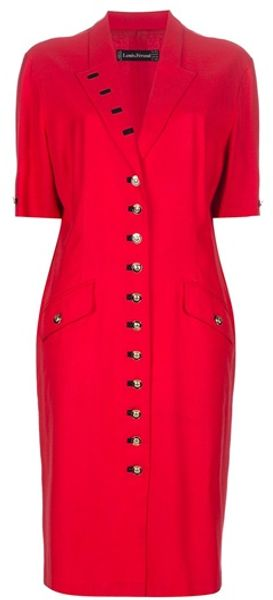 Louis Feraud Vintage Buttonup Dress - Lyst