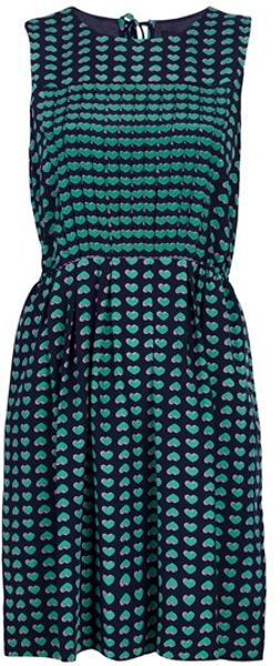 Marc By Marc Jacobs Heart Print Dress in Blue - Lyst