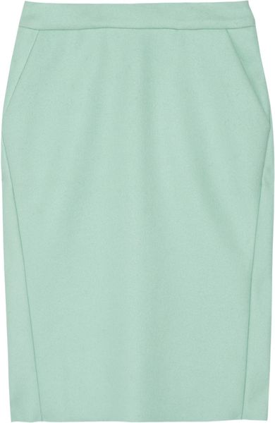 Marni Wool Skirt in Green (blue) - Lyst