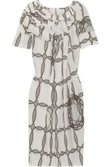 Marni Printed Crepe Dress - Lyst