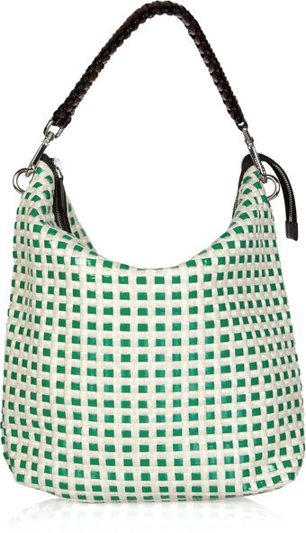 Marni Woven Leather and Raffia Hobo Bag - Lyst