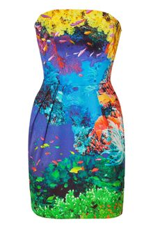 Mary Katrantzou Coral Reef Strapless Puff Dress - Lyst