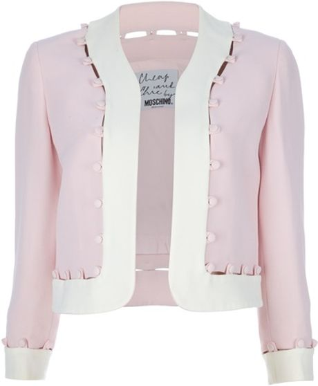 Moschino Vintage Open Front Jacket in Pink - Lyst