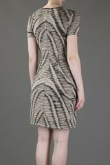 Mw Matthew Williamson Printed Dress in Beige - Lyst
